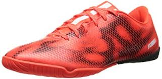 adidas performance men s f10 indoor soccer shoe solar red running white black
