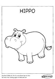 Baby Hippo Coloring Pages Cute Page For Kids Animals Acnee