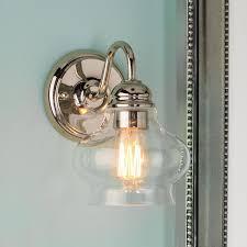 sconce lighting for bathroom. Clear Cloche Glass Sconce Hallway SconcesBathroom SconcesLight Lighting For Bathroom