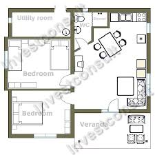 2 bedroom open floor house plans
