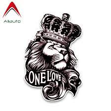 Aliauto Personality Fashion <b>Car</b> Sticker <b>One Love</b> Lion Crown PVC ...