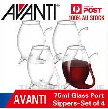 new avanti glass port sippers hand blown wine glasses set of 4 75ml