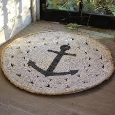 round nautical rugs. Indoor/Outdoor Round Anchor Mat Nautical Rugs U