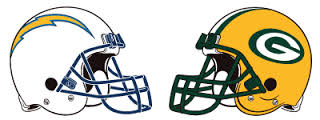 Image result for San Diego Chargers vs. Green Bay Packers