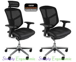 office chair back. Enjoy Office Chair Leather Seat Mesh Back With Neck Rest Enlarge