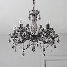 black chandelier lighting photo 5. Droplet Black Chandelier Annelise Crystal Droplets Smoked Lamp Departments Module 8 Lighting Photo 5 T