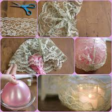 diy simple lace candle holder diy projects