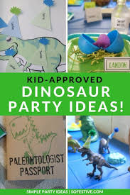 creative dinosaur party ideas