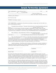 Sample Partnership Agreement Form 10 50 50 Partnership Agreement Templates Examples Pdf