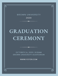 Ceremony Template Online Graduation Ceremony Program Template Fotor Design Maker