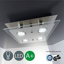 led kitchen lighting. Square Ceiling Light I LED Eco-friendly Lighting Glass Lamp 4 X 3 W 250 Lumen Kitchen Iight Classic Finish Modern Look Led