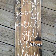 verse wall art scripture signs james 1 17 wood