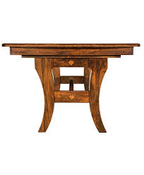 amish made abilene trestle table front view