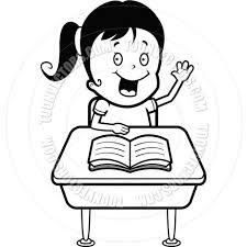 student desk clipart black and white. child student (black and white line art) desk clipart black h