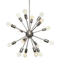 iconic lighting. wonderful lighting 16light sputnik pendant in pewter medium on iconic lighting e