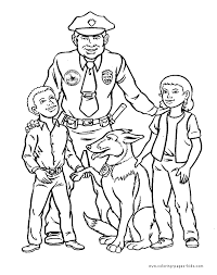 Small Picture Police color page Coloring pages for kids Family People and