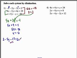 solving 3x3 system by elimination