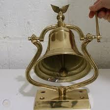vintage brass bell w eagle finial w
