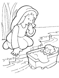 At Baby Moses Coloring Page Coloring Pages For Children