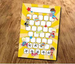 Star Chart Superhero Reward Chart Behaviour Chart Sticker Chart