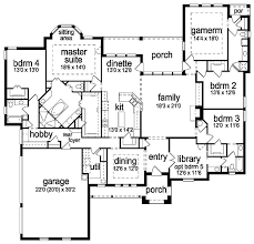 Floor plans aflfpw25584 1 story tudor home with 4 bedrooms 4 bathrooms and 3650