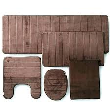 5 piece bath rug set bathroom carpet sets 5 piece bath rug sets brown bathroom rugs