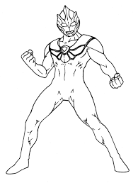 coloring page ultraman