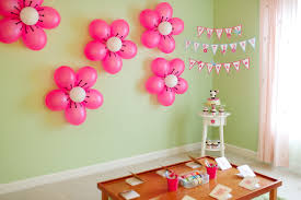 diy baby shower ideas for girls flower balloons minnie mouse