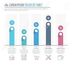 Bar Graph Template With Line Icons Business Infographics Template
