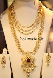 Gold Necklace And Haram Set Designs Diamond Necklace And Haram Set Gold Necklace Simple