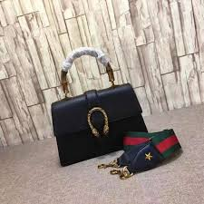 gucci dionysus leather top handle bag black 448075