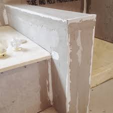 finish outside corners for tub steps ledges and decks in shower and bath ares with tile tape