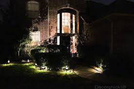 solar lights in yard at night decor