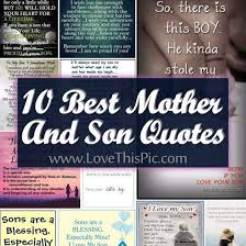 I Love My Son Quotes Amazing 48 Best Mother And Son Quotes
