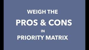 Pros And Cons Matrix How To Weigh The Pros And Cons In Priority Matrix