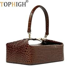 leather purse patterns crocodile pattern box bag women handbag vintage top handle lady ch luxury wallet leather purse patterns