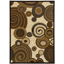 allstar rugs circles brown beige contemporary area rug