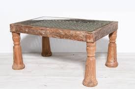 indian jali window frame coffee table