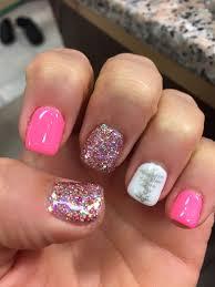 Christmas Nail Designs Shellac Christmas Nail Design Pink Glitter Christmas Tree Mani Gel