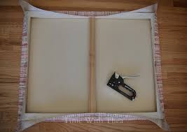 Memo Board With Ribbon Fabric Memo Board StepByStep Photo Tutorial Time With Thea 97
