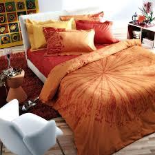 orange and brown bedding burnt sets bedroom color ideas