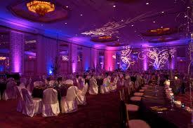 Dallas wedding lighting- Hotel Intercontinental in Dallas, TX with  alternating uplights http:/