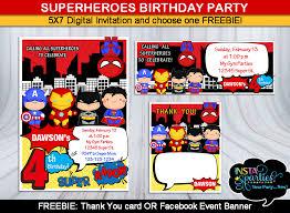 Personalized Superhero Birthday Invitations Superhero Birthday Invitation Choose Your Superheroes Personalized