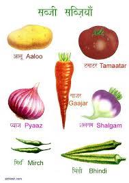 Vegetables In Hindi Hindi Taal En Zuid Aziatische Cultuur
