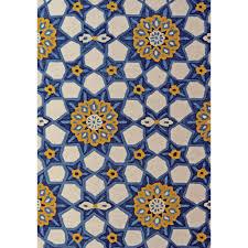 manika arabian pattern rug  blueorange kalora interiors inc