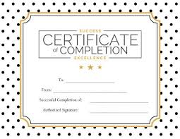 Printable Achievement Certificates 124 Free Printable Diy Certificate Templates