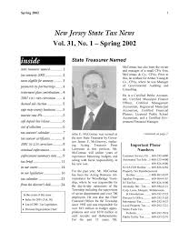 State Tax News Spring 2002 Vol 31 No 1 Pages 1 32