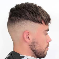 blurry fade messy crop haircut