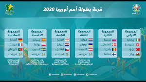 جدول مباريات بطولة أمم أوروبا – يورو 2020 / 2021 - YouTube