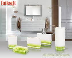 Accessories For The Bathroom Collection Topaz Green From Tatkraft Acrylic Bathroom Accessories